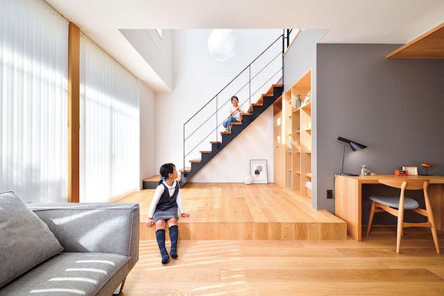 リビングのオープン階段